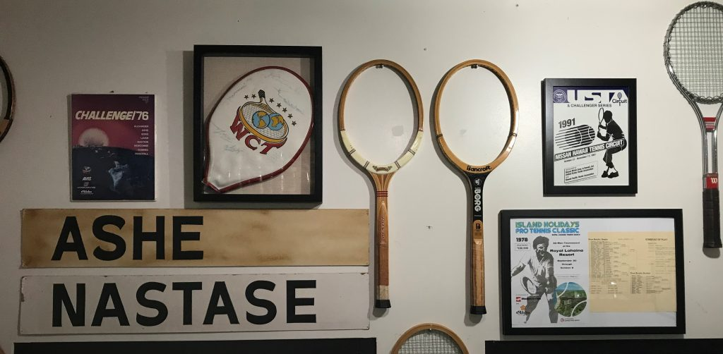 Blast from the Past - historic racquets & celebrity signs & posters