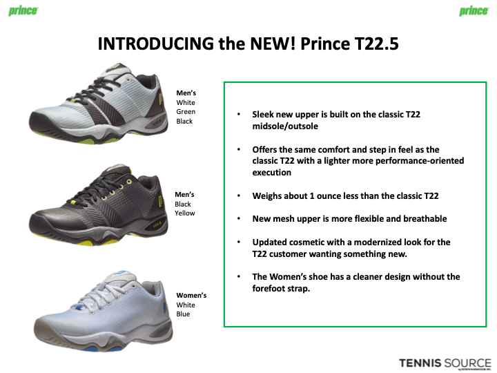 Latest Prince Tennis Gear: Footwear — tennis shoes