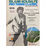Island Holidays Pro Tennis Classic 1978 Tournament Program Cover