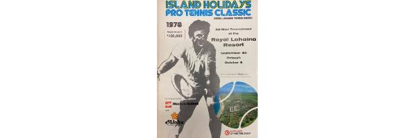 Island Holidays Pro Tennis Classic 1978 Tournament Program Cover