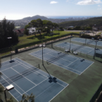 Waialae Iki 5 Tennis Courts - Diamond Head Backdrop