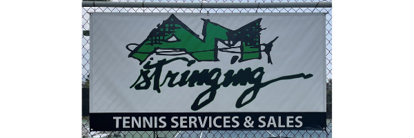 Royal Kona Resort Tennis Club - AM Stringing Pro Shop Banner - Tennis Sales and Service