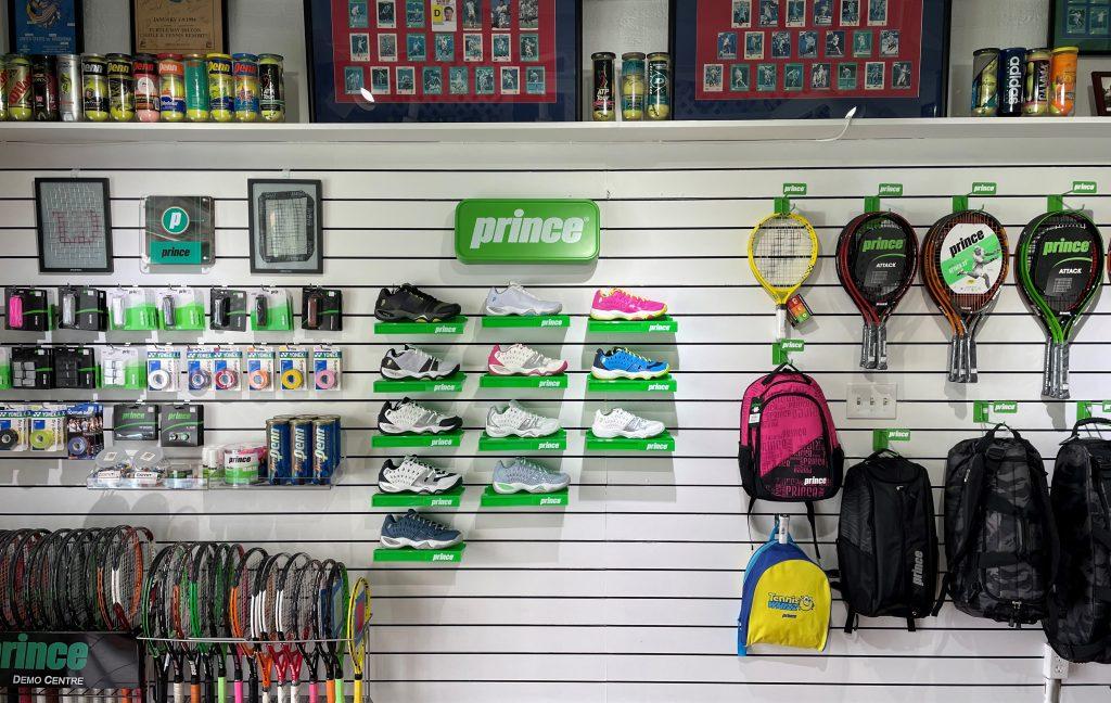 Royal Kona Resort Tennis Club - Prince Shoe Display - Tennis Services and Sales