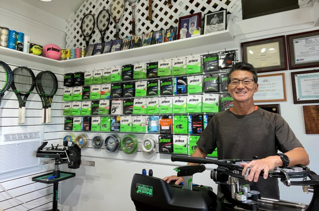 Royal Kona Resort Tennis Club - AM Stringing Pro Shop - Albert Murata, stringing machine, string inventory - Tennis Services and Sales